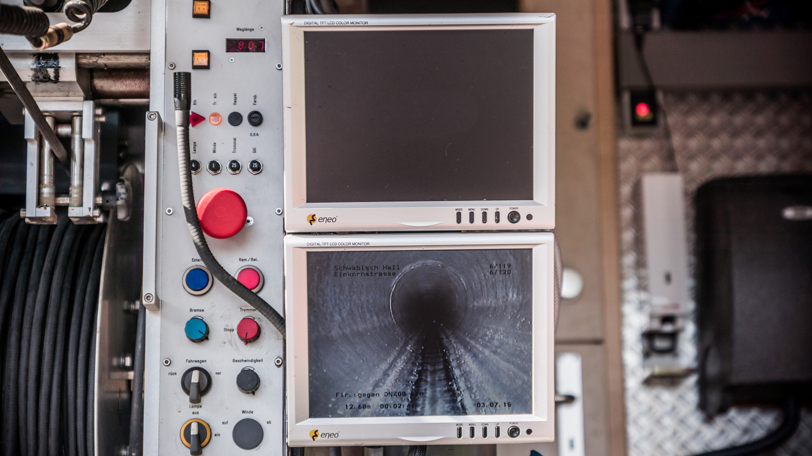 Kanal-TV Untersuchung Monitor